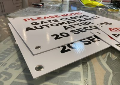 Sign Boards - Printed